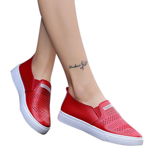 Women Shoes Casual Sports Student White Shoes Flats Breathable Shoes Lazy Shoes