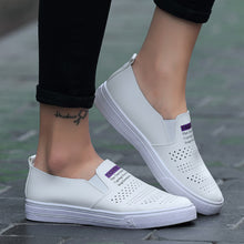 Load image into Gallery viewer, Women Shoes Casual Sports Student White Shoes Flats Breathable Shoes Lazy Shoes