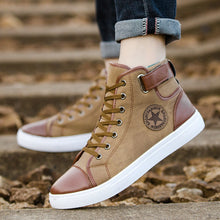 Load image into Gallery viewer, Men Women Causal Shoes Lace-Up Ankle Boots Shoes Casual High Top Canvas Shoes