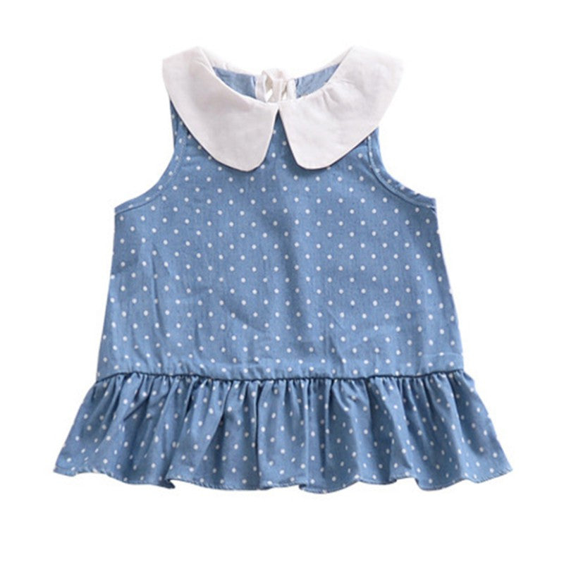 Baby Dresses  Princess Girls Dress Cotton Clothing Dress Dot Print Summer Girls Clothes