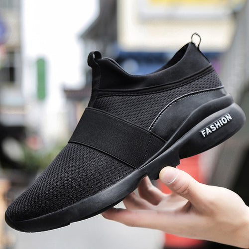 Men's Fashion Sneakers Beathable Mesh Shoes Wild Slip-on Casual Shoes