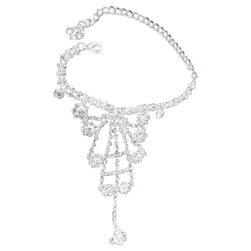 Latin Dancing Crystal Hand Chain Luxury Crystal Bracelet Wedding Dress Accessories Jewelry