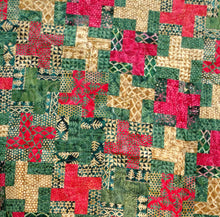Load image into Gallery viewer, Christmas log batik modern lap quilt