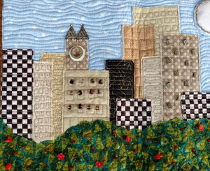City Scape Art Wallhanging quilt