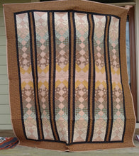 Load image into Gallery viewer, Brown French Braid lap quilt