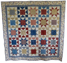 Load image into Gallery viewer, Patriotic Stars quilt pattern BL124
