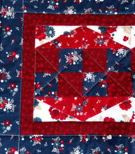 Load image into Gallery viewer, Patriotic red white and blue table topper