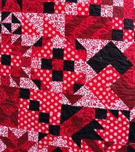 Load image into Gallery viewer, Red and Black Modern lap quilt