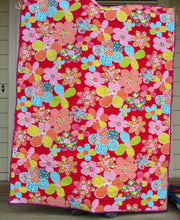 Load image into Gallery viewer, Star Batik lap baby quilt