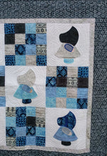 Load image into Gallery viewer, Blue Batik sunbonnet Sue wall hanging baby quilt