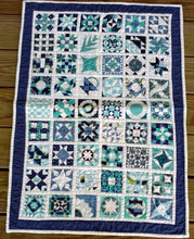 Load image into Gallery viewer, Women of the bible wallhanging quilt blue and white