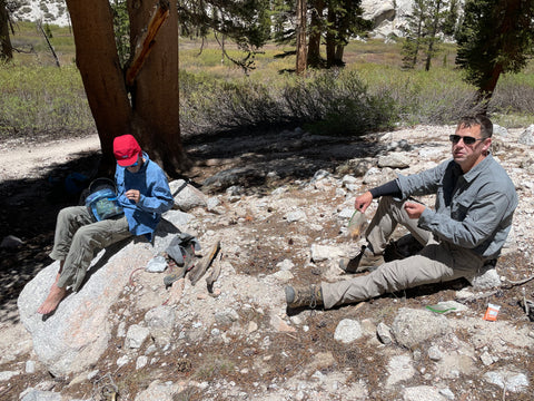 Lunch at outpost camp mount whitney
