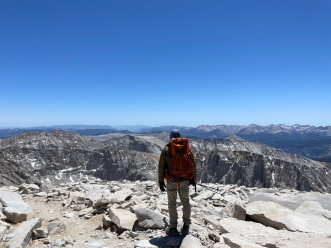 Standing on top of mount whitney