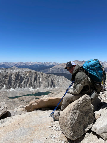 Sitting on top of mount whitney