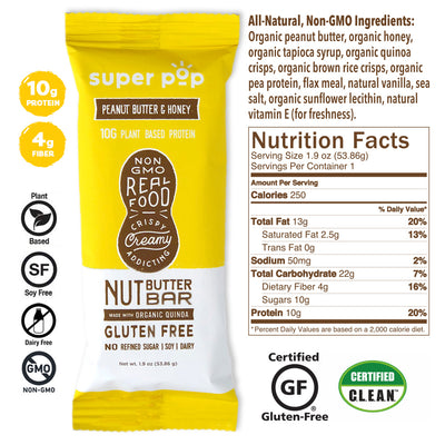 Peanut Butter Honey- 12 pack<br/>Clean eating with 10g protein