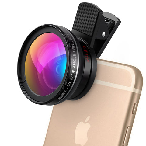 AMIR Clip-On 2 in 1 Phone Camera Lens