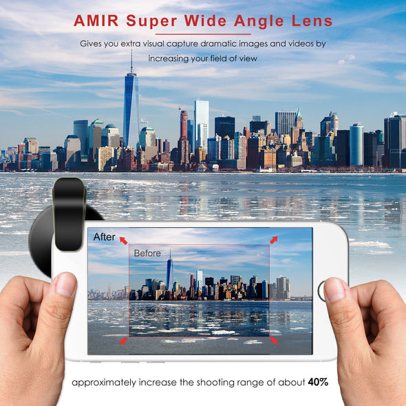 AMIR Clip-On 2 in 1 Phone Lens