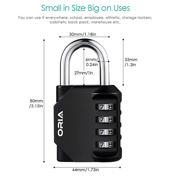 ORIA Combination Lock  ( BLACK/YELLOW )