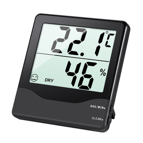 Digital Indoor Hygrometer Thermometer with LCD Screen