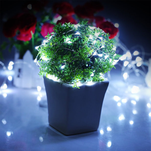 Solar Powered String Lights (White - Pack of 2)