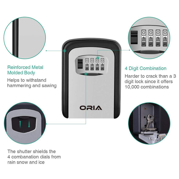 ORIA Portable Key Storage Lock Box