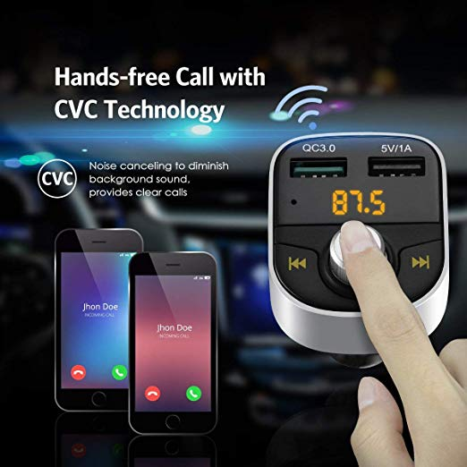 Wireless In-Car FM Radio Adapter Car Kit
