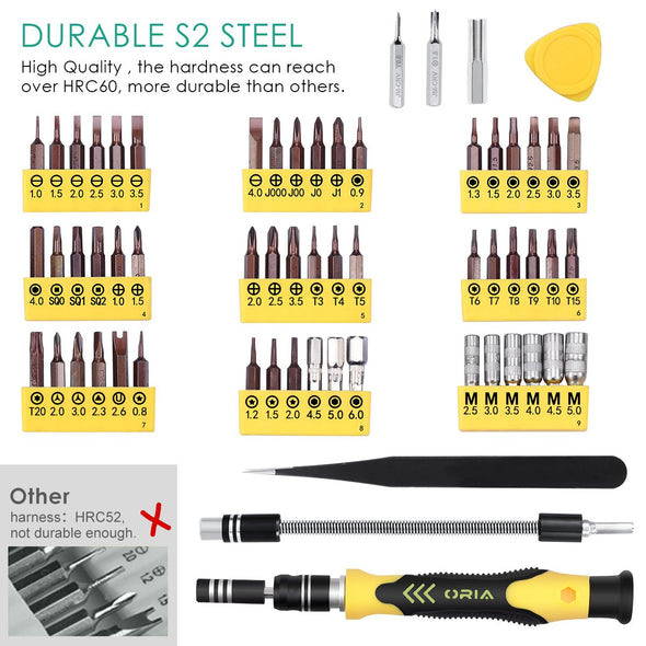 64 in 1 Precision Screwdriver Set with 56 Bits