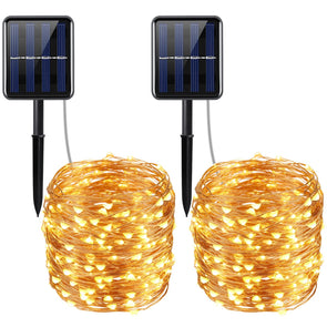 Solar Powered String Lights 72 ft (Warm White)