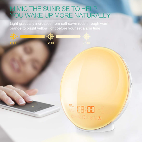 Wake-Up Light, Smart Control Alarm Clock