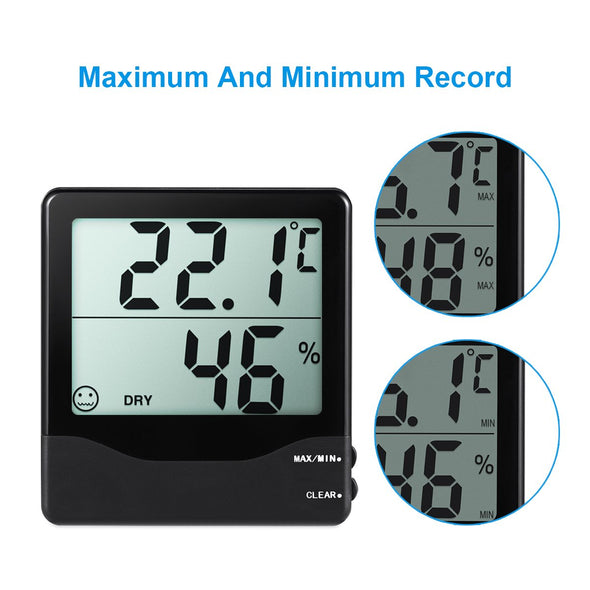 Case of 252 Packs, Indoor Hygrometer Thermometer