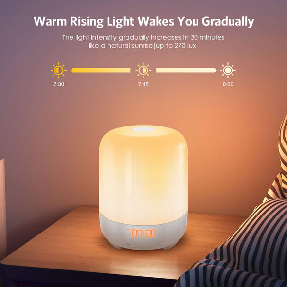 Wake-Up Light, Touch Sensor Bedside Lamp | AMIR