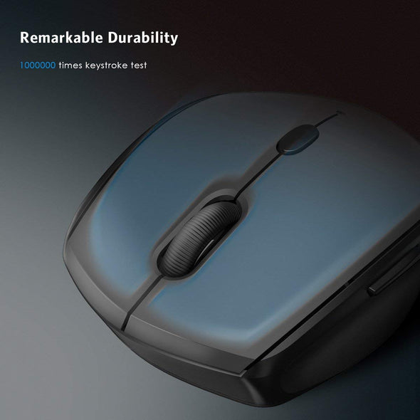 Wireless Mouse, Portable Optical Office Mouse with USB Receiver