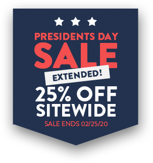 Presidents Day Sale - 25% Off Sitewide - Sale ends 02/25/2020