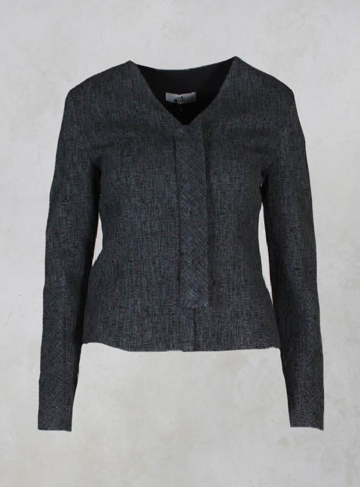 Giacca Munch Short Textured Jacket in Palude