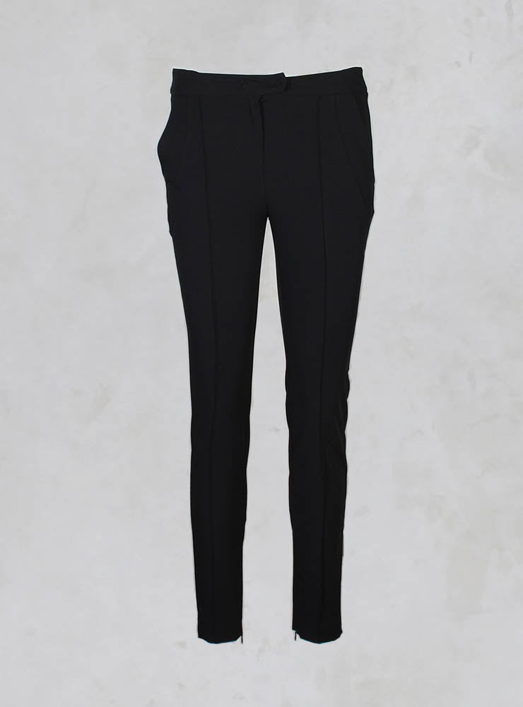 Pantalone Chagall Straight Leg Tailored Trousers in Nero