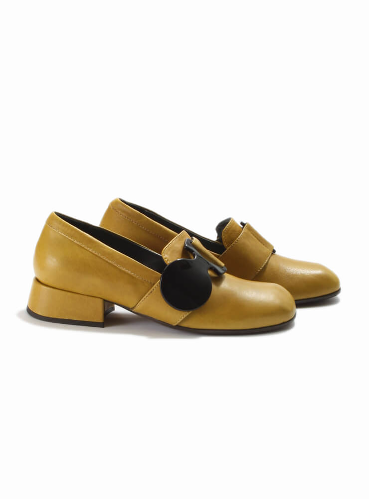 Scarpa Fox Slip On Shoe with Buckle Detail in Senape