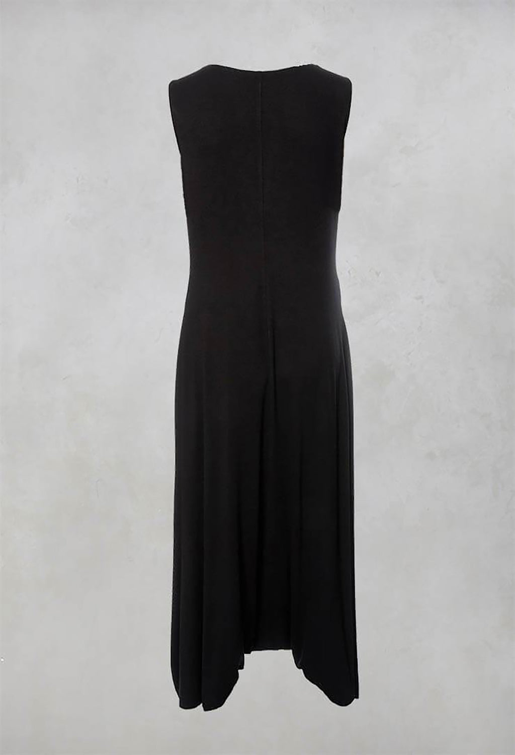 Sleeveless Dress Style Jumpsuit in Black