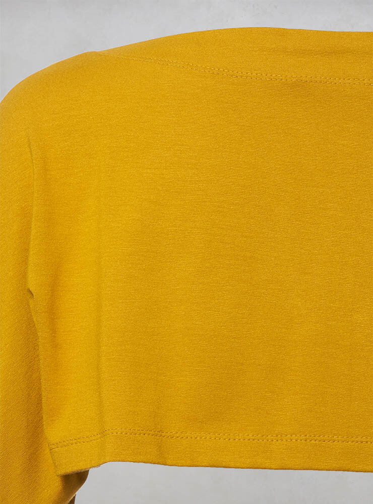Cropped Long Sleeve Top in Yellow