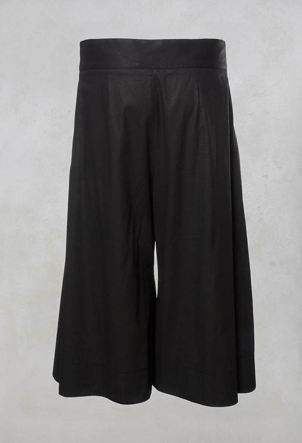 Tailored Wide Leg Culottes in Black