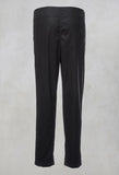 Cropped Straight Leg Trousers in Black
