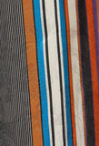 Wide Leg Striped Trousers in Multicolour