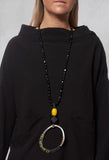 Long Onyx Necklace in Black