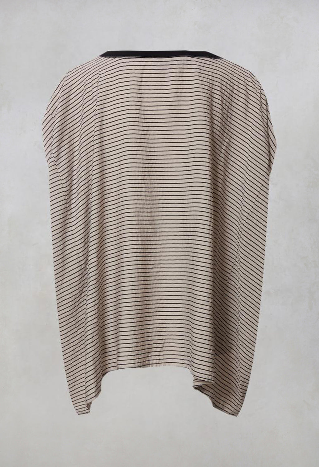 Oversized T Shirt in Stone and Black Stripe