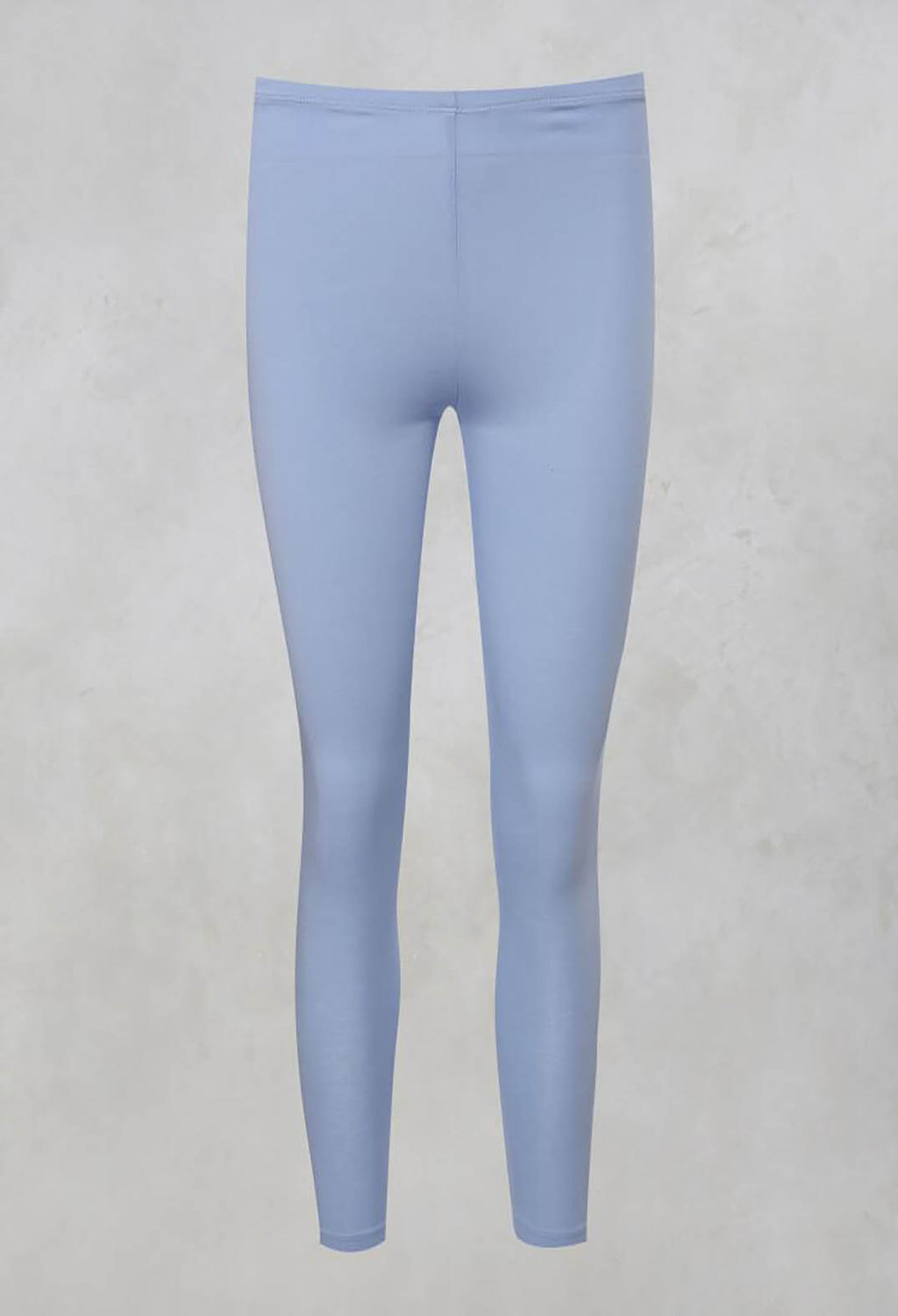 Basic Ankle Grazer Leggings in Pale Blue