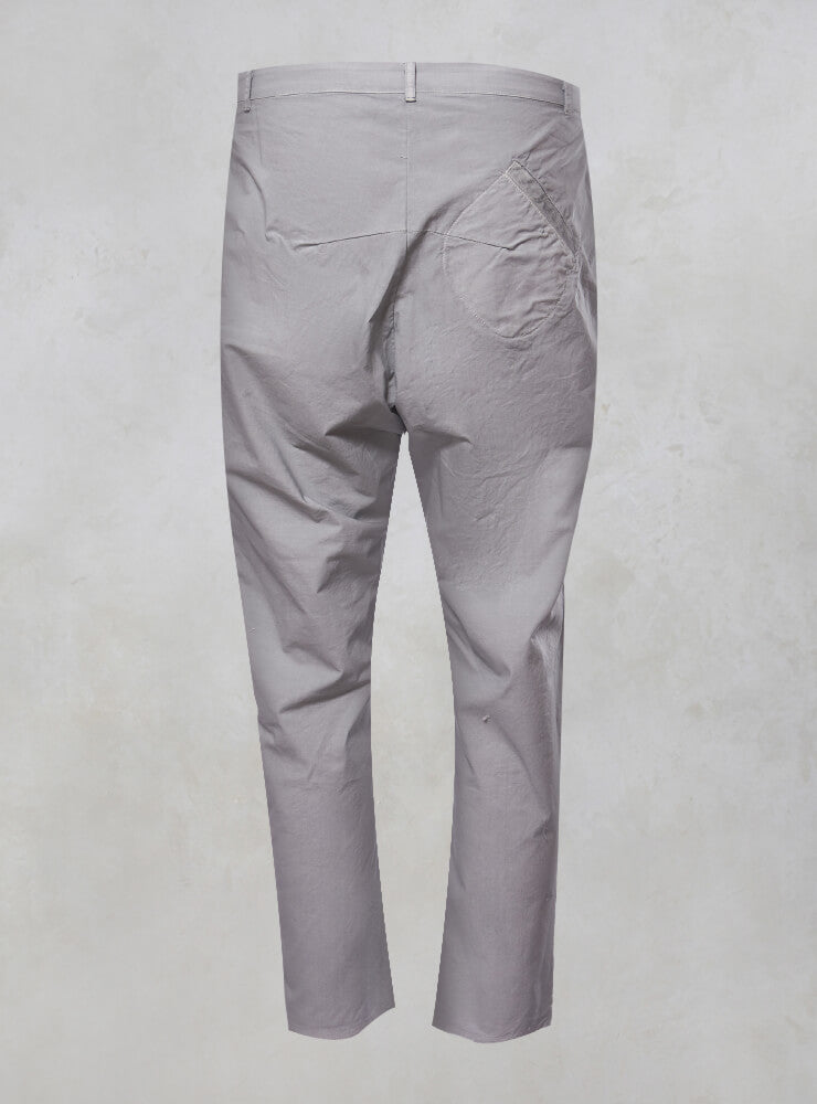 Straight Leg Trousers with Pockets in Alu