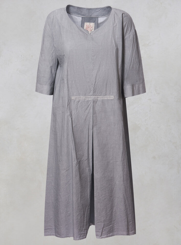 A Line Dress with Tie Back in Alu