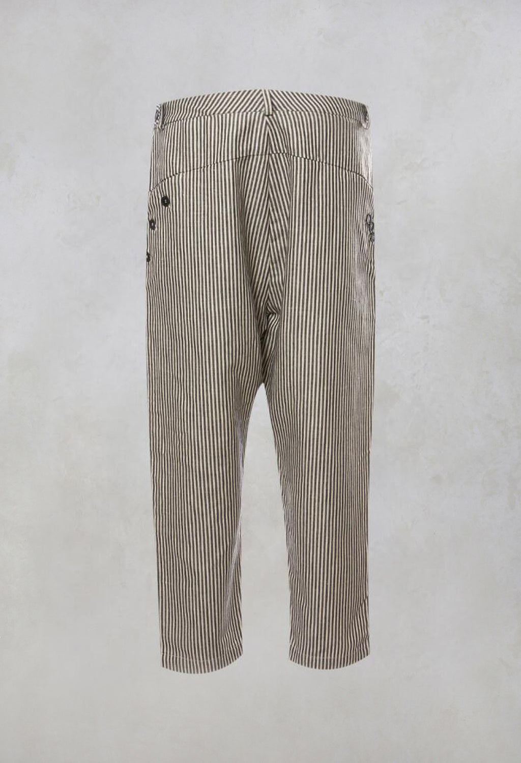 Striped High Waisted Peg Trousers in Unique