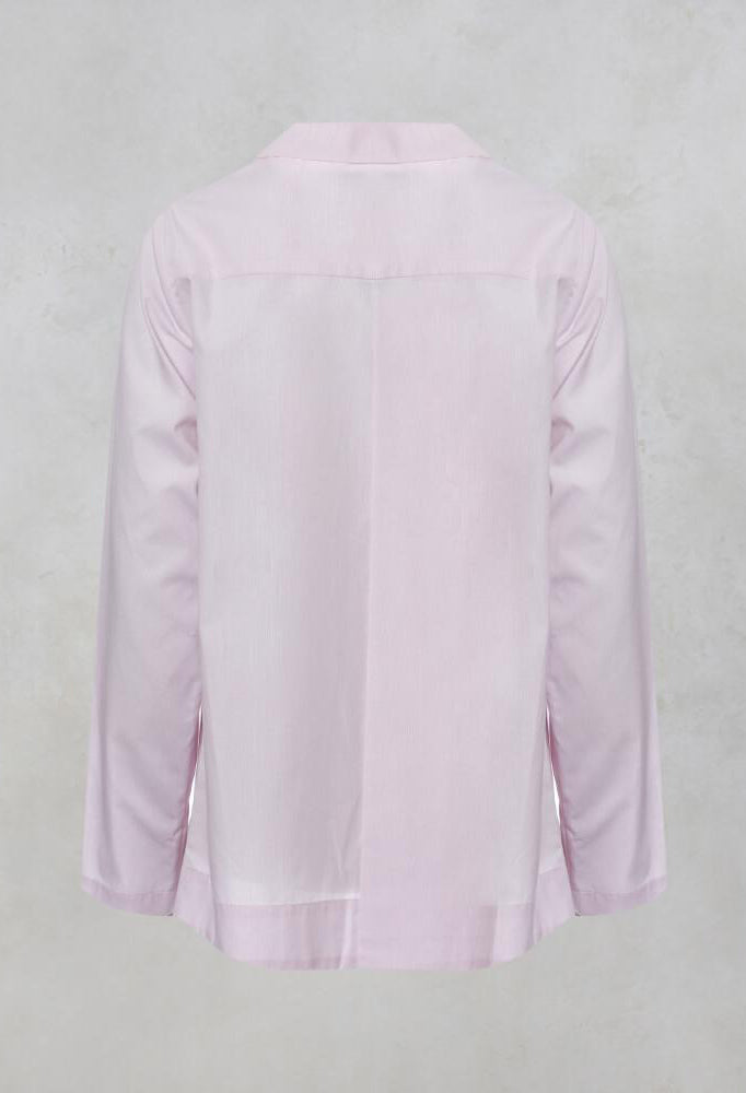 Shirt with Pleated Peplum in Pink