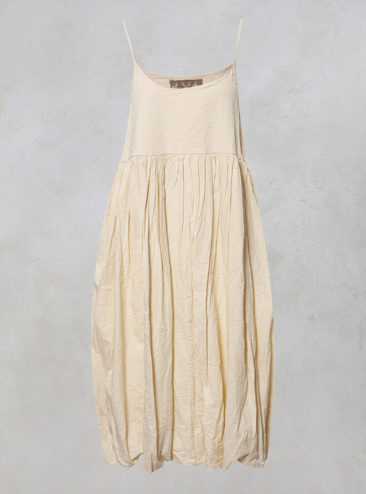 Irene Strappy Smock Dress in Coton Ecru
