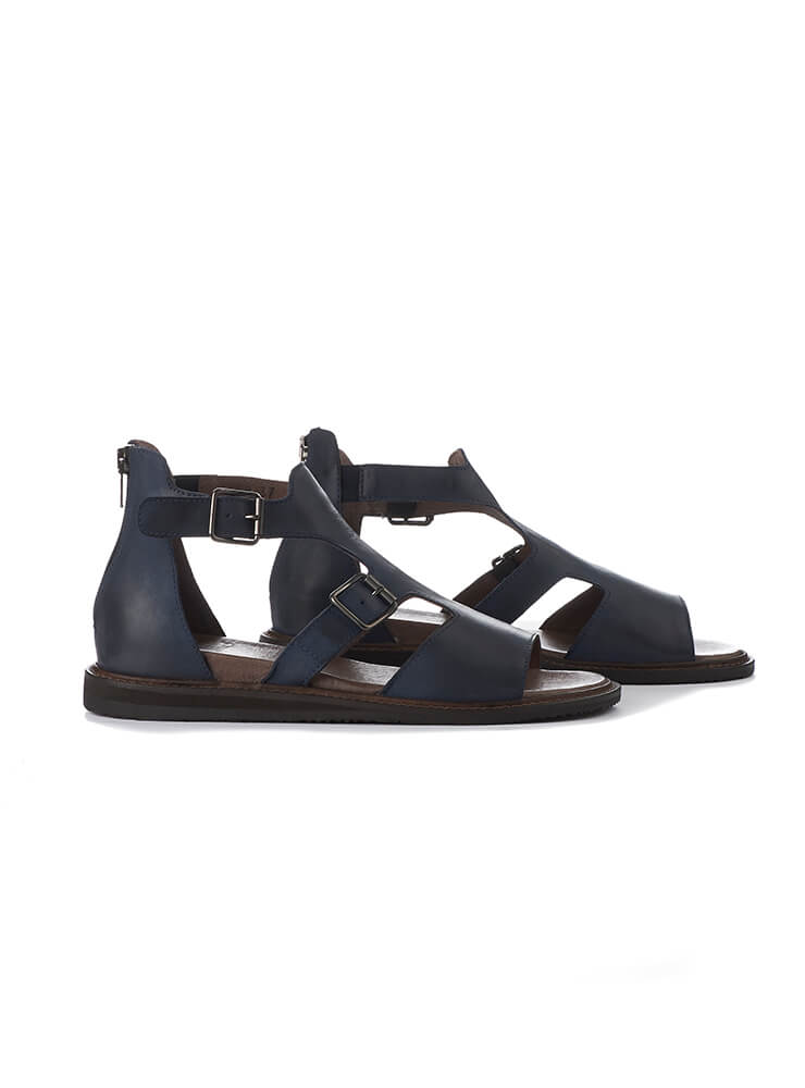 Gladiator Sandals in Gasoline Nautica